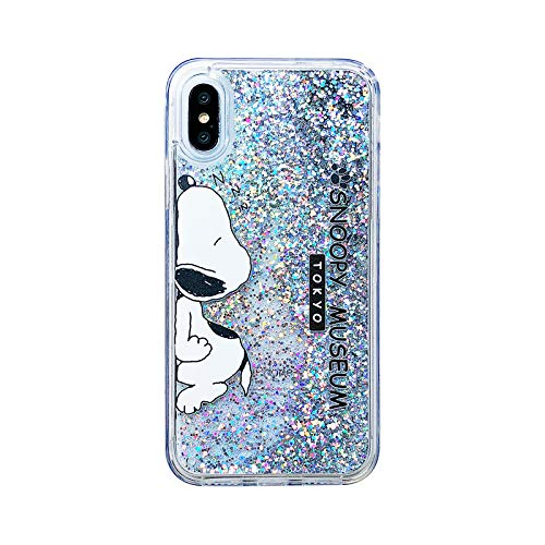 Schutzhülle für iPhone X/iPhone X (ultradünn, Weiches TPU, Schlankes Design, leicht, stoßfest, 3D-Cartoon), niedliches Design, Silver Snoopy