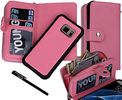 Urvoix Galaxy S7Schutzhülle, 2in 1[teilbar Lederschutzhülle] Back Cover [Wallet Reißverschluss] Flip PU Leder Case für Samsung Galaxy S7G930(Nicht für S7Edge) (Verizon Laptop)