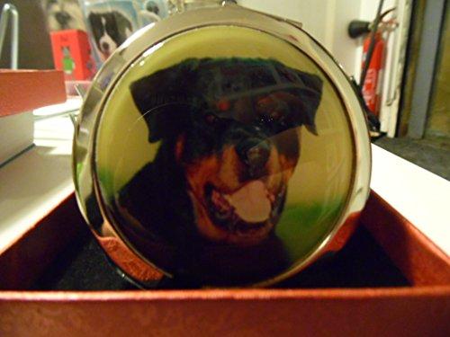 Taschenspiegel, verziert einer Rottweiler Kopf -