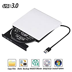 Usb 3.0 Externes Dvd Laufwerk Dvdcd Brenner Für Macbook, Macbook Pro, Macbook Air, Imac Os, Windows 7810vistaxp2003 (Weiß)