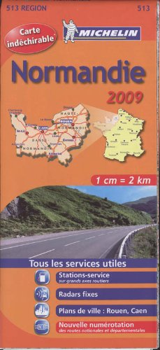 NORMANDIE 17513 CARTE MICHELIN KAART 2009 (KAARTEN/CARTES MICHELIN)