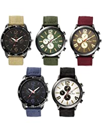 Rico Sordi set of 5 denim strap watches combo(RS_set of 5 PU watch(1)