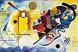 1art1 119098 Wassily Kandinsky - Gelb Rot Blau, 1925 XXL Poster 120 x 80 cm