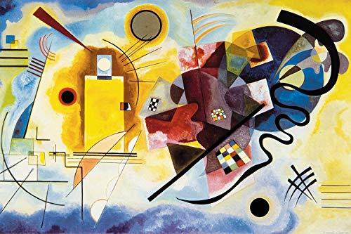 Kandinsky Kunst Poster (1art1 119098 Wassily Kandinsky - Gelb Rot Blau, 1925 XXL Poster 120 x 80 cm)