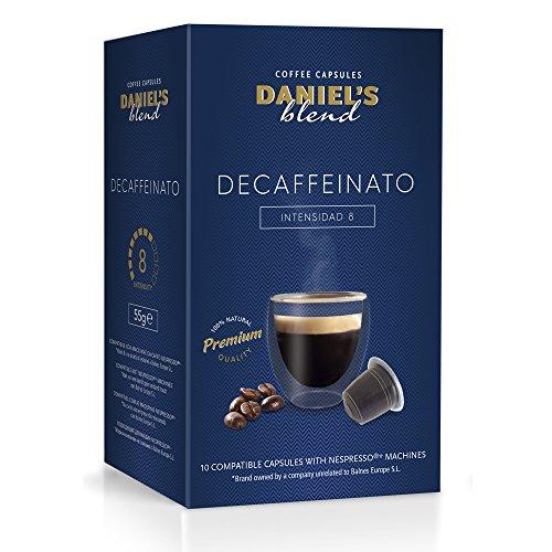DANIELS BLEND - 100 Cápsulas de Café Compatibles con Máquinas Nespresso - DECAFFEINATO