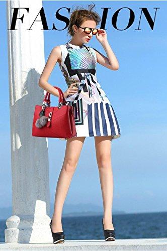 CELO sacchetti delle signore informale europea e americana borsa di modo Palla di pelo semplice vendita borsa a tracolla diagonale di alta qualità , red wine red