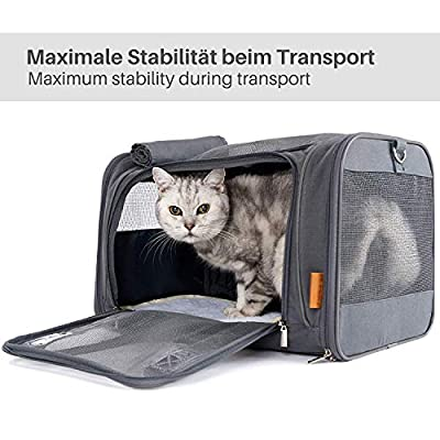 PiuPet® Premium Transport Bag for Cats and Dogs in Weekender Look and Stylish from BranMic Products