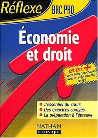 Réflexe : Économie - Droit, Bac Pro