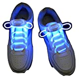 #7: LED shoelaces light up shoe laces with 3 mode flash lighting the night for Party Hip hop dancing - Unisex