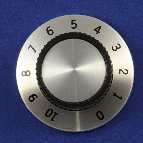 Calibré 0–10bouton de contrôle de 37mm Diamètre Argenté/noir Creatronics