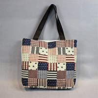 Preisvergleich für Yudanwin Leinwand-Lunch-Tasche Student Lunch Bag Cartoon Lunch Box Tasche Picknick Tasche (vierzehnten)