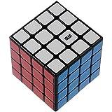 Moyu Mini AoSu 4x4x4 Profesional rompecabezas cubo mágico Puzzle con pegatinas enigmas Negro