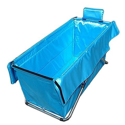 baignoire pliable/Baignoire gonflable gratuit/épaissie allongé adulte baignoire-Sky version bleue A