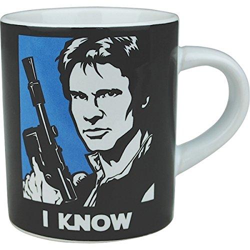 Juego-de-tazas-pequeas-Han-Solo-y-Princesa-Leia-Set-de-2-taznes-mini-La-Guerra-de-las-Galaxias-Star-Wars-Han-Solo-and-Princess-Leia