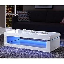 Amazon.fr : table basse laque blanc