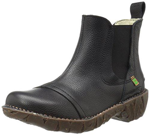 El Naturalista N158 Soft Grain Yggdrasil, Stivali Chelsea Donna, Nero (Black N01), 40 EU