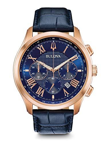bulova orologio cronografo quarzo uomo con cinturino in pelle 97b170