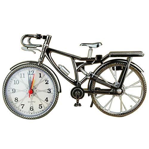 Bicicleta Reloj, Bicicleta Reloj de Mesa clásico silencioso Retro Decorativo, Es Agradable...