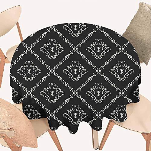Petpany Sonnenblumen-Tischdecke, runde Tischdecken, dekoratives Muster, dekorativer Stoff-Tischbezug für drinnen und draußen, Vinyl, Color8, D39 inchs