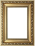 Gold - A4 Ready to hang or stand Ornate Shabby Chic Picture/Photo/Poster frame with High Clarity Styrene Shatterproof Perspex Sheet & MDF backing board