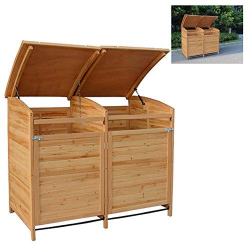 MTB Mülltonnenbox Holzverkleidung mit Deckel Türe 240 L. Gartenbox erweiterbar (Erweiterung) - 5