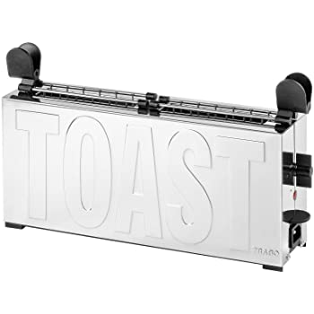 Tostapane Trabo Toast Black B2244N Design Gae Aulenti Prodotto Made in Italy