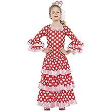 Disfraz de Sevillana roja con lunares para niña