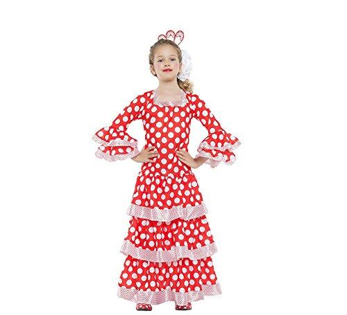 Zzcostumes SEVILLANA Kostüm Grösse 7-9 Jahre GRÖßE - Sevillana Kostüm