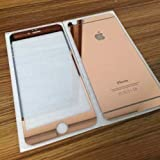 ACCWORLD Front & Back Coloured Tempered Glass Screen Protector for Apple Iphone 6/6s (Rose Gold)