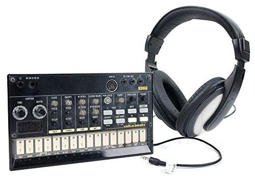DURAGADGET Cuffie Stereo per Korg Volca Beats - Nero