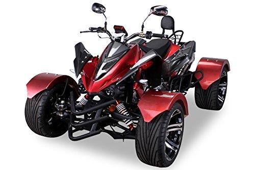 Speedstar 300cc Automatik Quad carbon/weinrot - mit Straßenzulassung für 2 Personen CVT Automatik mit Rückwärtsgang TIEF - FETT - BREIT