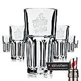 6 x Captain Morgan & Cola Glas / Gläser Longdrink Gastro Bar Deko + Flaschenausgiesser