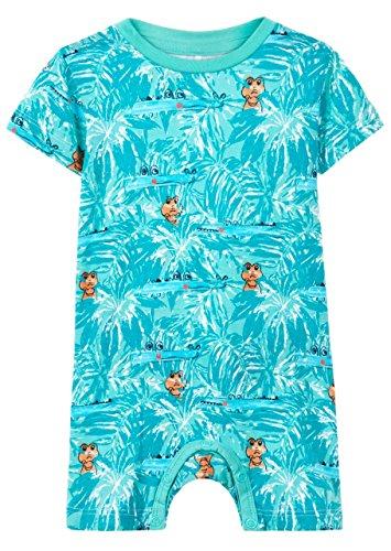 NAME IT Baby-Jungen Strampler Nbmdesko SS Sunsuit, Mehrfarbig (Pool Blue), 56 (Sunsuit Baby)