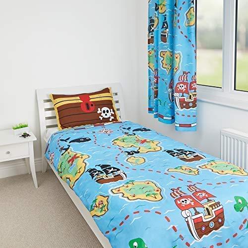 Zappi Co Piraten Design von die Geschenk Scholars. Wende Kleinkind Bettdecke, Einzelbett Bettdecke, 54