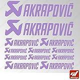 Brett 12Sticker Aufkleber Akrapovic Auspuff Anlage–Lavendel–Sticker, selbstklebend, Motorrad, Bike, Kit, Deco, Tuning, Decal, gt-design, GT Design, gtdesign