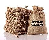XIN-JI Excellent thème de Star Wars Sacs Mignons de Cadeau, Beaux Cadeaux, faveurs de Partie de Mariage, boîte à Musique maniable. Sacs Cadeaux avec Cordon de Serrage (10pcs)