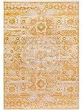 Benuta Teppich Vintage Safira Gelb 133x185 cm - Vintage Teppich im Used-Look