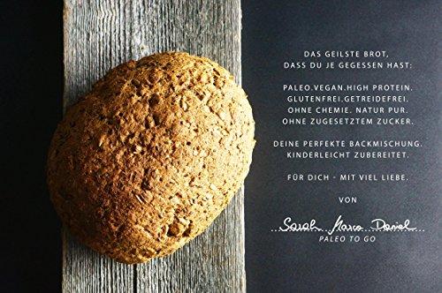 PALEO Brot-Backmischung Kastanie: BIO | 20% Eiweiss | Getreidefrei, Glutenfrei, Hefefrei | Vegan & Paleo | ohne zugesetzten Zucker | Hergestellt in Deutschland | Paleo To Go | Ergibt 4 Brote (1.8 kg) - 2