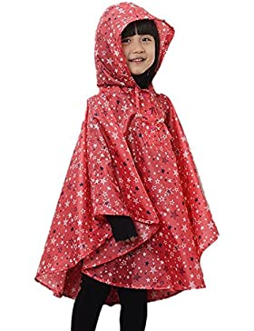 LOSORN ZPY Kinder Mädchen Stern Regenjacke Regenmantel mit Kapuze Wasserdicht Softshelljacke Regenponcho