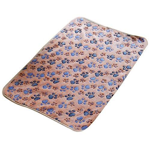 Westeng weiche, warme Samt Decke für Hund / Katze, Motiv: Pfotendruck, 60 x 40 cm, 1 Stück