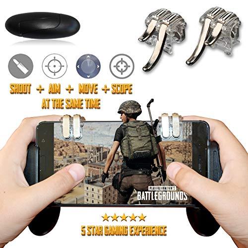 Mobile Game Controller für iPhones. L1R1 Mobile Doppel-Trigger und Gamepad für Android, iPhone. Mobiler Spiel-Controller, montierbar, einfach, kompatibel, verstellbar, kompakt und ergonomisch