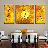 WXD arte lona estirada personas abstractas cuadro decorativo juego de 3