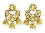 The Three Jhumki Kundan Earrings