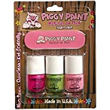 Piggy Paint Nail Polish And File Kit (Lol, Dragon Tears, And Pin Kie Promise)