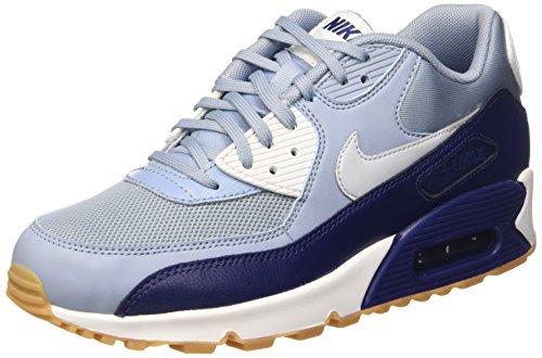 Nike Damen Wmns Air Max 90 Essential Laufschuhe, Mehrfarbig (Bl Gry/Pr Pltnm-Lyl Bl-Smmt Wh), 38 EU