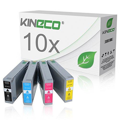 Preisvergleich Produktbild 10 Tintenpatronen kompatibel zu Epson T7891 - T7894 für Epson WorkForce Pro WF-5620 DWF, WF-5110DW, WF-5190DW, WF-5690DWF, WF-5100 Series, WF-5600 Series - Schwarz je 77ml, Color je 49ml