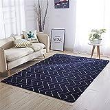 GUO-YANGH Teppich-Modern,weich Designer, Flanell bedruckter Teppich Schlafzimmer Wohnzimmer Teppich Couchtisch mat-1_120 * 160cm