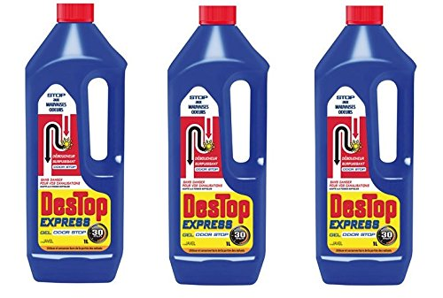 Destop Déboucheur Gel Javel 1 L - Lot de 3