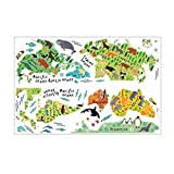 Ruirain-DE Animal World Map Wall Sticker 90 * 60CM Waterproof Removable Home Decoration Decal for Children Room Nursery Kids Studyroom