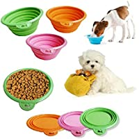 Pet Dog Cat Fashion silicone pieghevole Alimentazione Acqua Feeder Viaggi